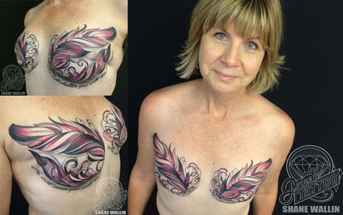 Xót xa những phụ nữ phải xăm hình che vết cắt ung thư vú - 3