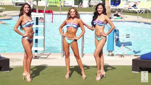nguyễn thị loan trình diễn bikini bên dàn người đẹp quốc tế - 1