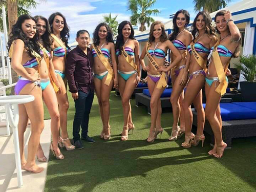 nguyễn thị loan trình diễn bikini bên dàn người đẹp quốc tế - 2