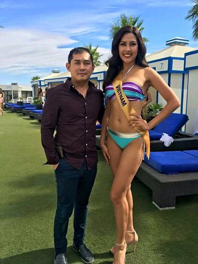 nguyễn thị loan trình diễn bikini bên dàn người đẹp quốc tế - 3