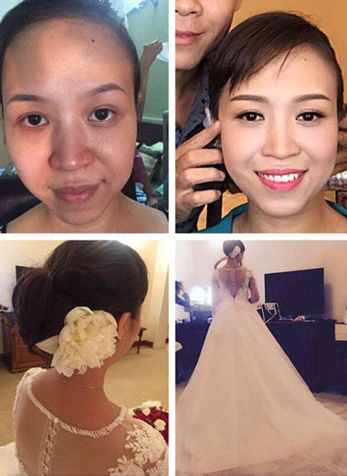 trang điểm cô dâu thành công là phải phù hợp với chú rể - 3