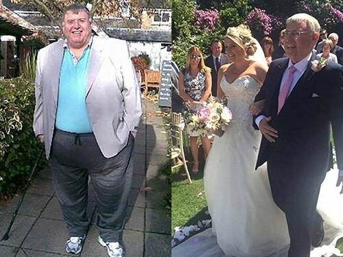 Cảm động với ông bố giảm 130kg để đưa con gái vào lễ đường - 4