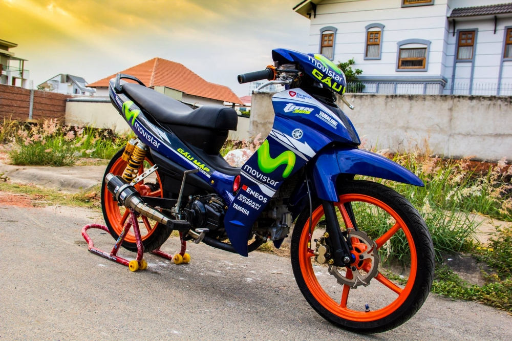 Yamaha jupiter phiên bản movistar độ phong cách xe chạy sân - 1