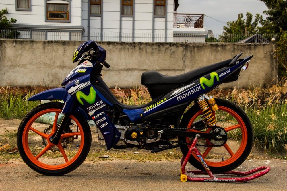 Yamaha jupiter phiên bản movistar độ phong cách xe chạy sân - 2