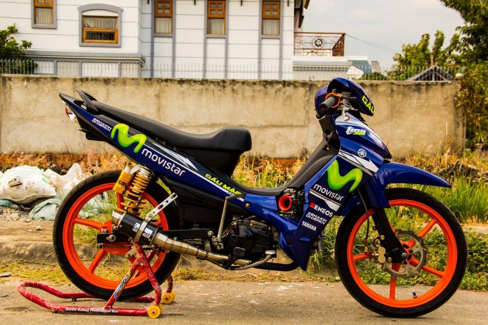Yamaha jupiter phiên bản movistar độ phong cách xe chạy sân - 7