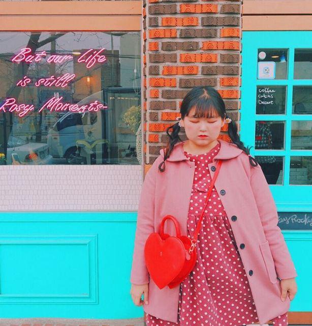Cô nàng béo tròn mê màu hồng đang làm chao đảo mạng xã hội hàn quốc - 5
