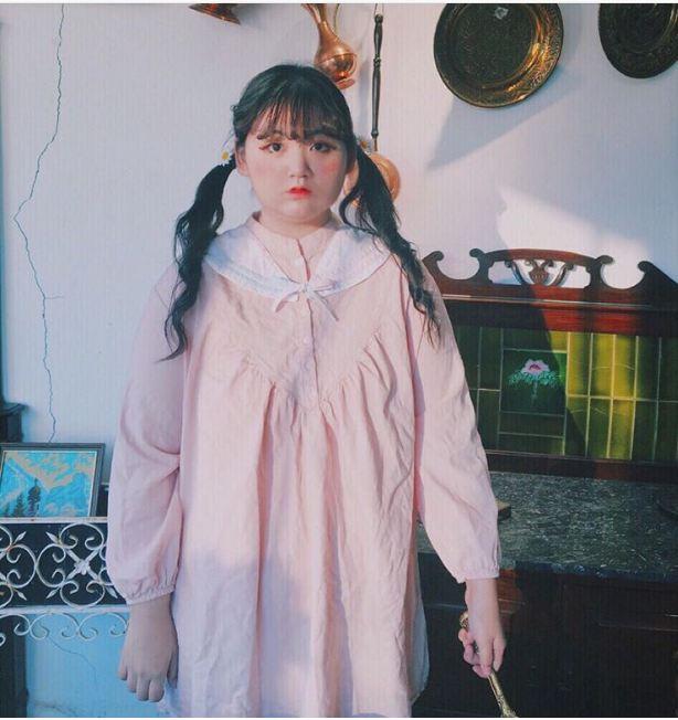 Cô nàng béo tròn mê màu hồng đang làm chao đảo mạng xã hội hàn quốc - 8