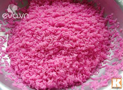 Điệu đà với xôi hoa vị lá cẩm đậu xanh vừa ngon vừa đẹp - 2