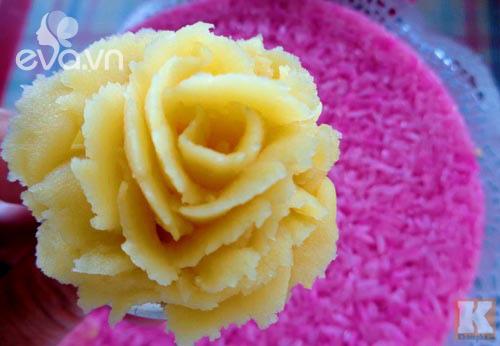 Điệu đà với xôi hoa vị lá cẩm đậu xanh vừa ngon vừa đẹp - 9