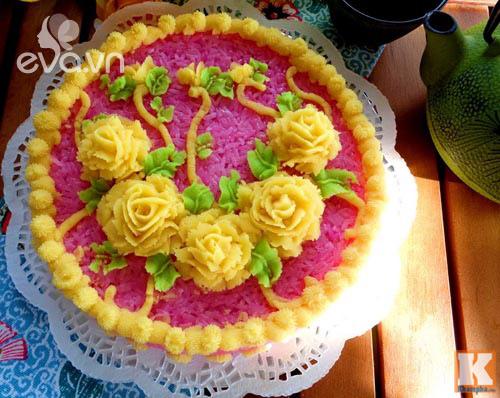 Điệu đà với xôi hoa vị lá cẩm đậu xanh vừa ngon vừa đẹp - 10