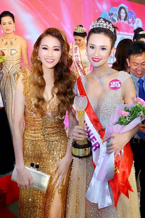 Hoa hậu giáng my đỏ rực khoe dáng bên xuân nguyễn - 12