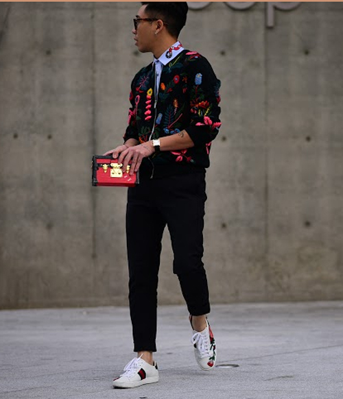 Hoàng ku chất lừ đến từng centimet đi xem seoul fashion week 2016 - 2