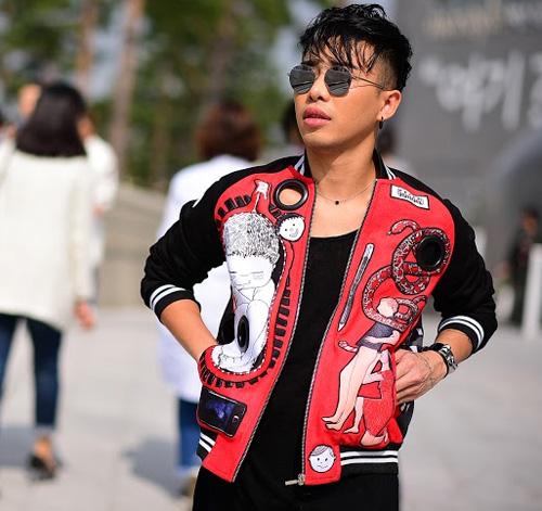 Hoàng ku chất lừ đến từng centimet đi xem seoul fashion week 2016 - 8