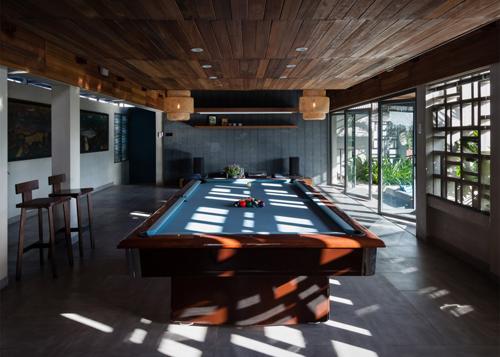 biệt thự sài gòn với bể bơi nằm ở tầng 2 - 3