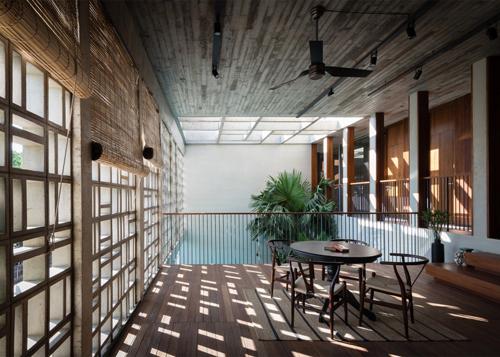 biệt thự sài gòn với bể bơi nằm ở tầng 2 - 8