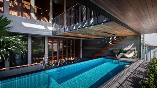 biệt thự sài gòn với bể bơi nằm ở tầng 2 - 10