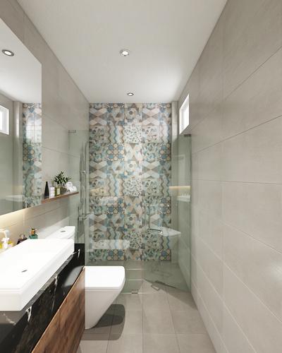 khu khô-ướt không tách biệt phòng tắm bí bức - 2