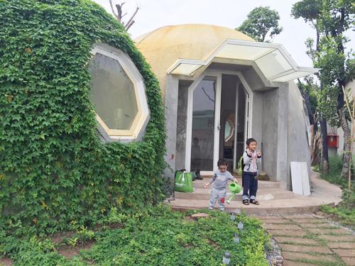 ông bố hà nội làm ngôi nhà tròn kỳ lạ theo ước mơ của con - 6