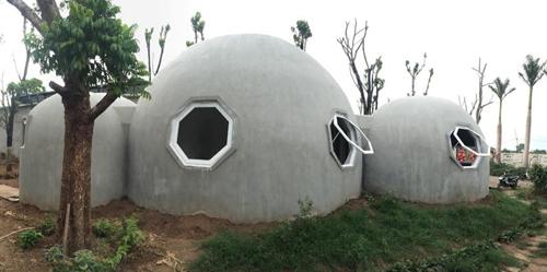 quá trình xây dựng ngôi nhà tròn phủ kín dây leo - 8
