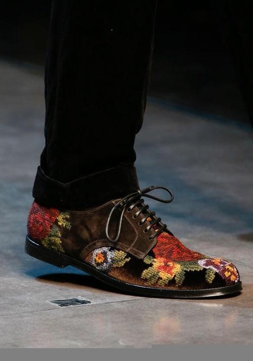 Giày nam họa tiết hoa lá đẹp hè 2017 xu hướng thời trang năm nay - 2