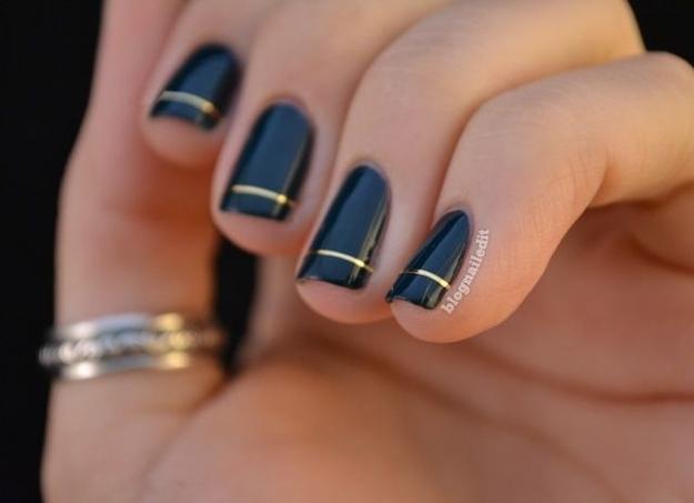 13 kiểu vẽ móng tay nail kẻ sọc đẹp nhất 2017 cho nàng công sở cá tính - 3