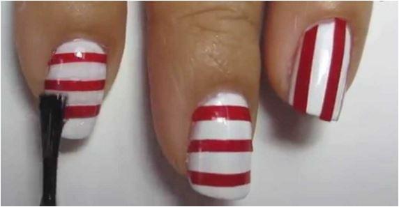 13 kiểu vẽ móng tay nail kẻ sọc đẹp nhất 2017 cho nàng công sở cá tính - 10