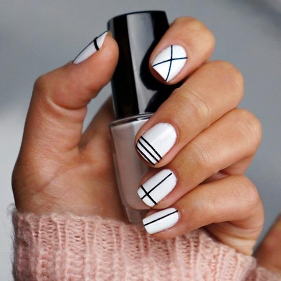 13 kiểu vẽ móng tay nail kẻ sọc đẹp nhất 2017 cho nàng công sở cá tính - 11
