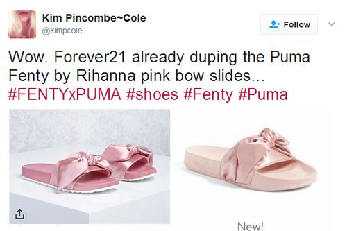 forever 21 và topshop bị tố ăn cắp thiết kế giày của rihanna - 1