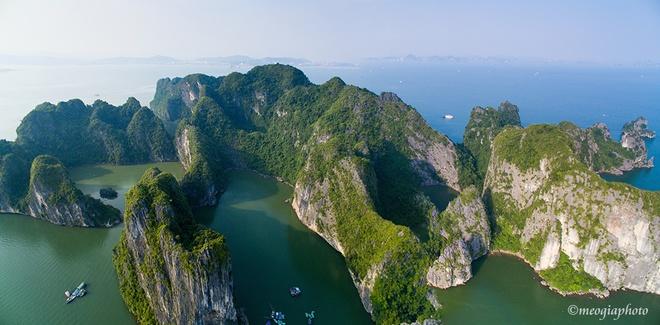 Vịnh hạ long - bối cảnh phim kong skull island nhìn từ trên cao - 9
