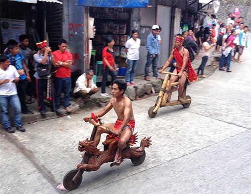 cuộc đua scooter gỗ - 3