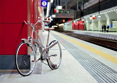 xe đạp gọn bằng chiếc ô - 1