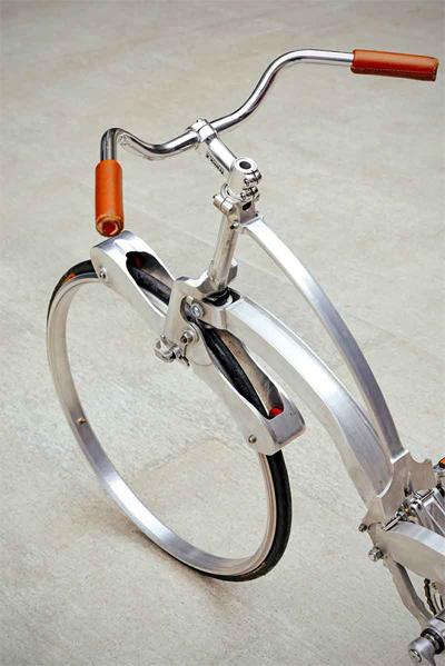 xe đạp gọn bằng chiếc ô - 2