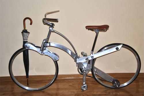 xe đạp gọn bằng chiếc ô - 3