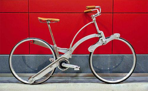 xe đạp gọn bằng chiếc ô - 4