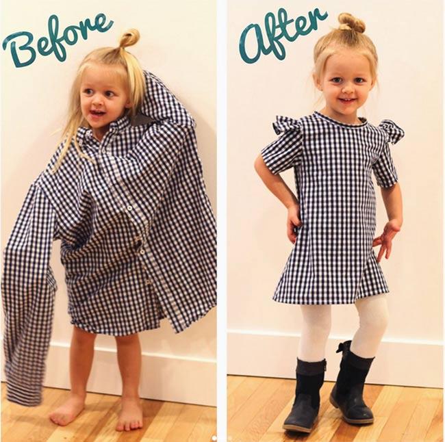 Bà mẹ vượt qua trầm cảm sau sinh nhờ tài may váy cho con gái từ áo sơ mi của chồng - 7