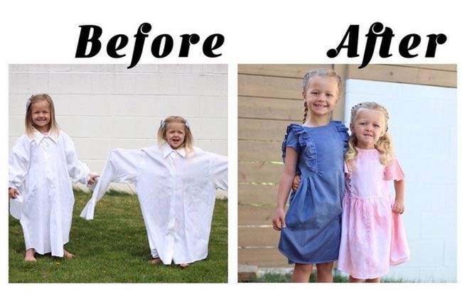 Bà mẹ vượt qua trầm cảm sau sinh nhờ tài may váy cho con gái từ áo sơ mi của chồng - 9