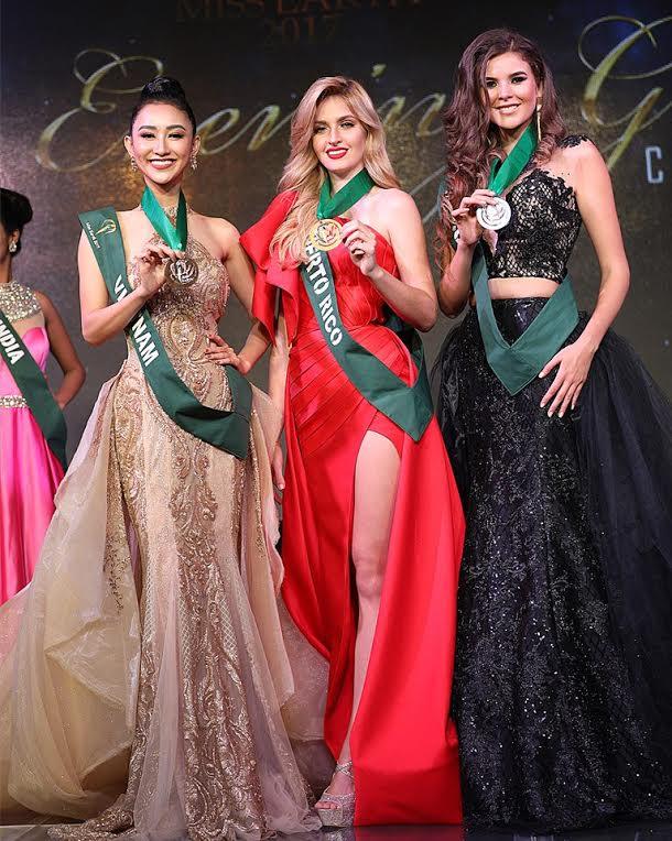 Chiếc váy dạ hội của hà thu lọt top 3 trang phục đẹp nhất của hh trái đất - 2