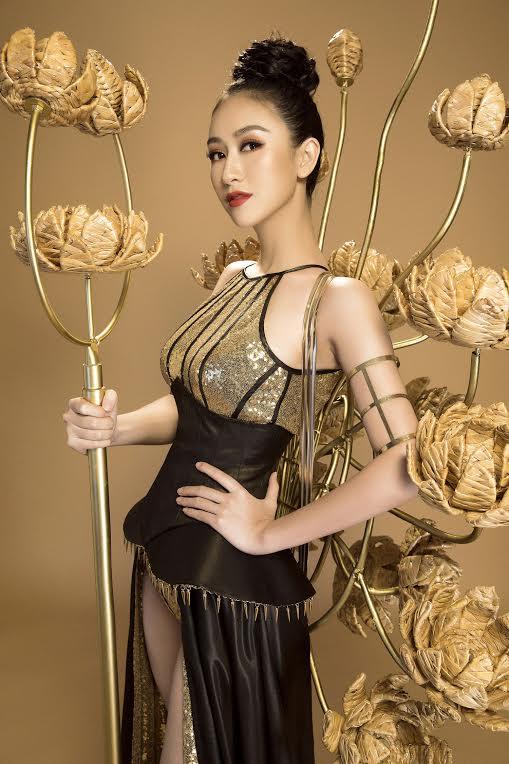 Chiếc váy dạ hội của hà thu lọt top 3 trang phục đẹp nhất của hh trái đất - 5