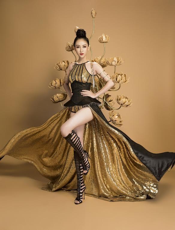 Chiếc váy dạ hội của hà thu lọt top 3 trang phục đẹp nhất của hh trái đất - 6