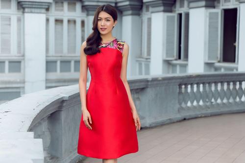 Đón thu rực rỡ với loạt váy đẹp miễn chê của á hậu lệ hằng - 2