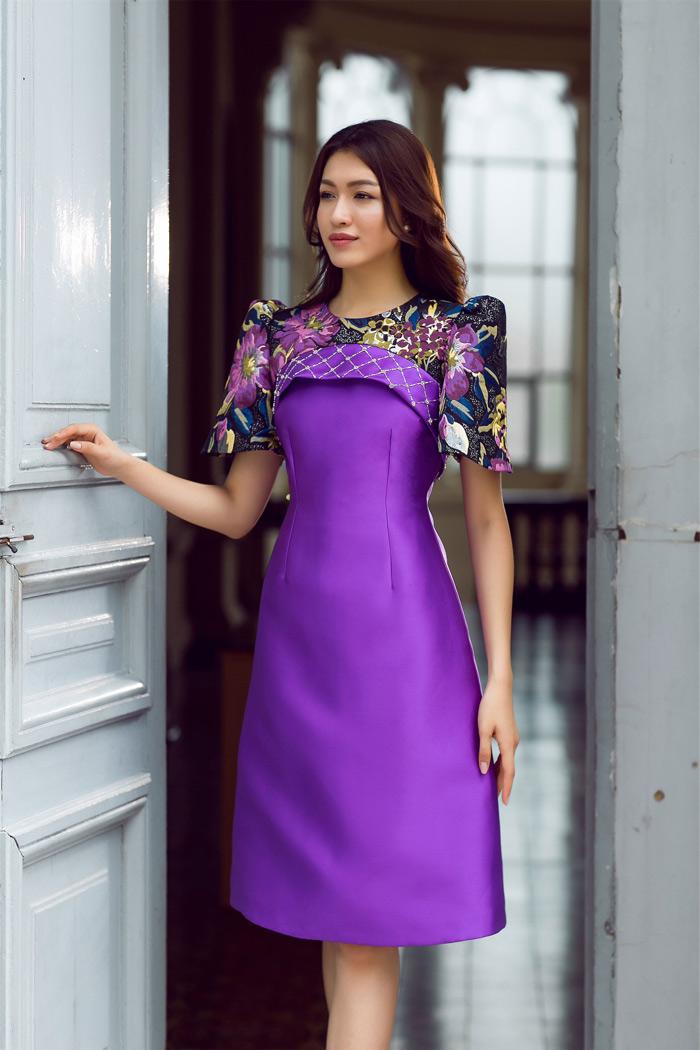 Đón thu rực rỡ với loạt váy đẹp miễn chê của á hậu lệ hằng - 6