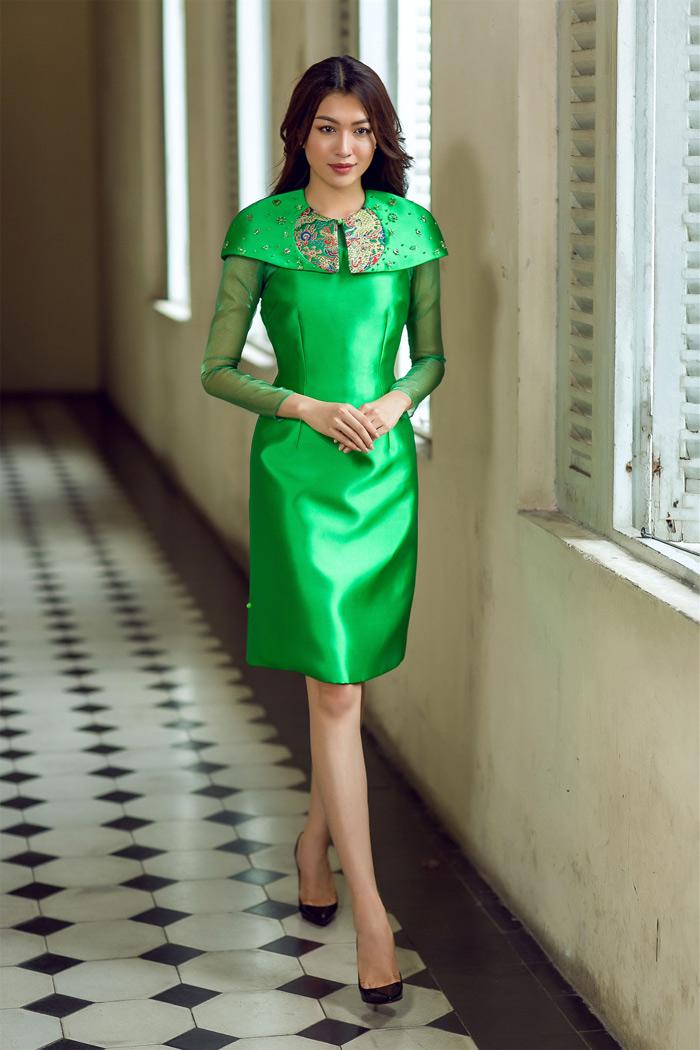 Đón thu rực rỡ với loạt váy đẹp miễn chê của á hậu lệ hằng - 9