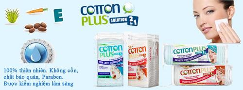 Phát sốt với bông tẩy trang cao cấp cotton plus 2 trong 1 từ ý - 1