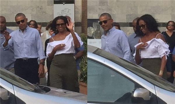 Phu nhân cựu tổng thống obama bất ngờ gợi cảm trên phố - 5
