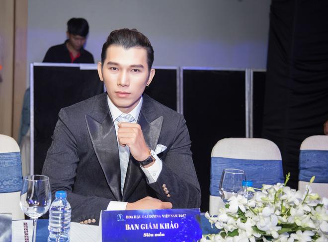 Siêu mẫu ngọc tình ngồi ghế giám khảo cuộc thi nam vương đại sứ hoàn vũ 2017 - 5