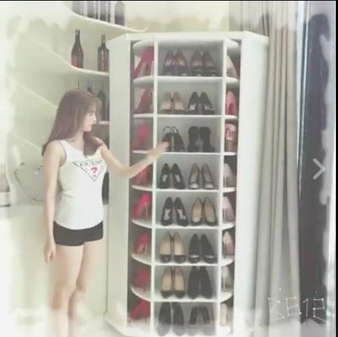 Than vãn căn hộ triệu đô quá chật ngọc trinh sắm ngay tủ độc để cất bst giày tiền tỷ - 1