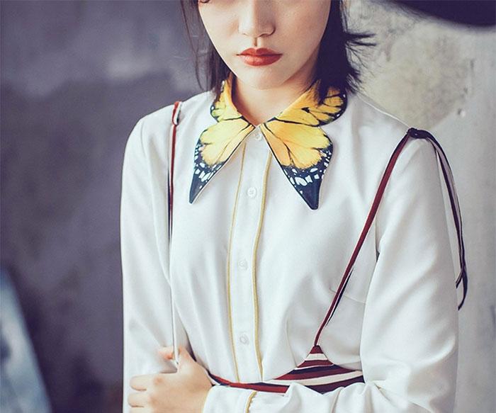 Váy công sở mà mặc cùng cổ áo sơ mi kiểu này thì đẹp tuyệt vời - 3