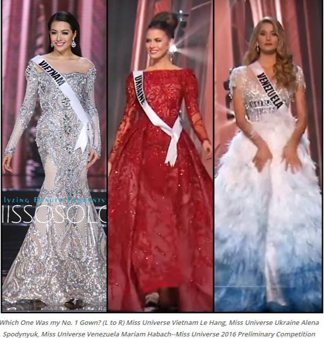 Váy dạ hội đẹp xuất sắc tin vui lại đến với lệ hằng tại miss universe 2016 - 3