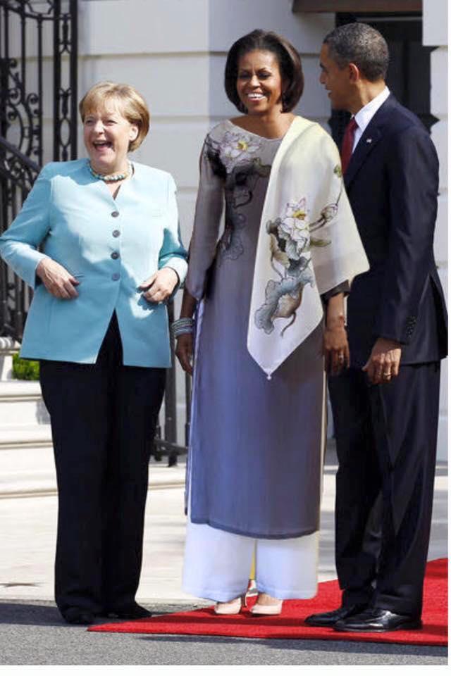 Ảnh vợ tt obama mặc áo dài việt xứng đáng là ảnh ghép thời trang hot nhất 2016 - 1