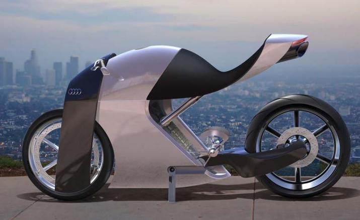Audi trình làng bản concept xe hai bánh ấn tượng với tên gọi audi rr - 1